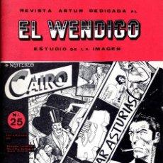 Cómics: SALVAR ASTURIAS AUTORES ART COMIC PELZ Y ARBESÚ, EL WENDIGO Nº 25 AÑO 1983 CARPETA A 6 PÁGINAS. Lote 127122951