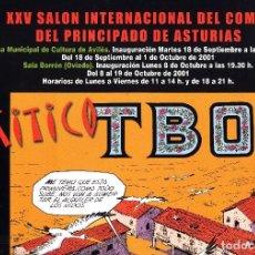Cómics: SALON COMIC DEL PRINCIPADO DE ASTURIAS CARTEL EXPOSICION EL MITICO TBO TAMAÑO DIN A2 . Lote 127130403