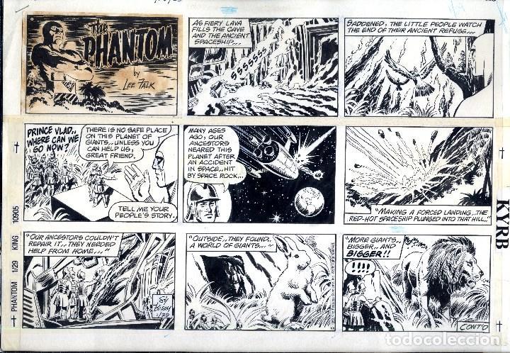 EXPOSICIÓN SALON COMIC PRINCIPADO ASTURIAS AÑO 1989 THE PHANTOM DIN A3 (Tebeos y Comics - Art Comic)