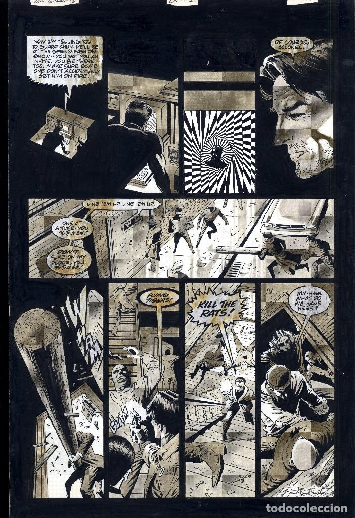 ART COMIC PAUL GULACY TAMAÑO DIN A3 PREMIO HAXTUR CARPETA GUALCY (Tebeos y Comics - Art Comic)
