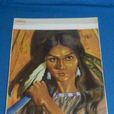 Comics : (CP21) DIBUJO ORIGINAL DE CARLES PRUNES - SALGARI NUM 67 LA CAZADORA DE CABELLERAS , 35 X 25 CM . Lote 127910267