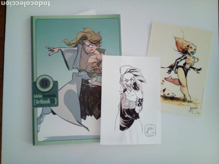 ADRIÁN FERNÁNDEZ. ARTBOOK CON DIBUJO ORIGINAL (Tebeos y Comics - Art Comic)