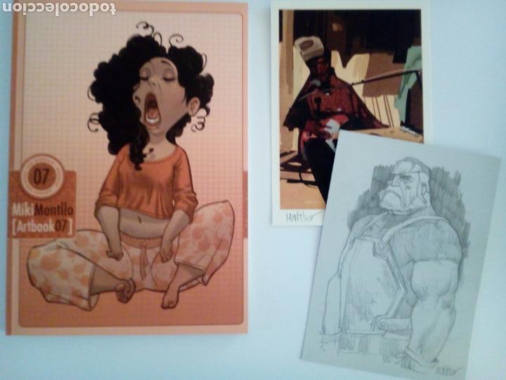 MIKI MONTLLO. ARTBOOK CON DIBUJO ORIGINAL (Tebeos y Comics - Art Comic)