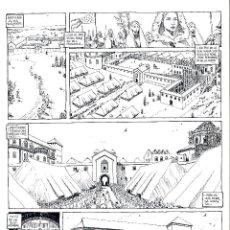 Cómics: ART COMIC DE GASPAR MEANA LA CRONICA DE LEODEGUNDO TAMAÑO 52 X 37 CM PREMIO HAXTUR CARPETA GASPAR. Lote 129213223
