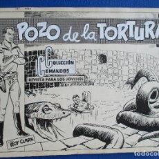 Cómics: ROY CLARK Nº 8, (COLECCIÓN COMANDOS Nº 80), COMPLETO: PORTADA + 10 PÁGINAS. PLANCHAS ORIGINALES.. Lote 130113855