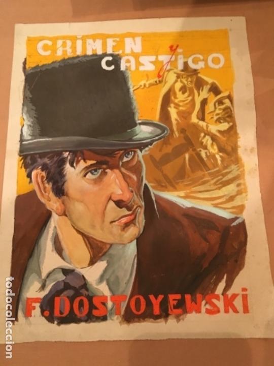 PORTADA ORIGINAL CREEMOS QUE ES DE EMILIO FREIXAS , F DOSTOYEWSKI , CRIMEN Y CASTIGO (Tebeos y Comics - Art Comic)