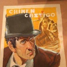 Cómics: PORTADA ORIGINAL CREEMOS QUE ES DE EMILIO FREIXAS , F DOSTOYEWSKI , CRIMEN Y CASTIGO. Lote 130234784