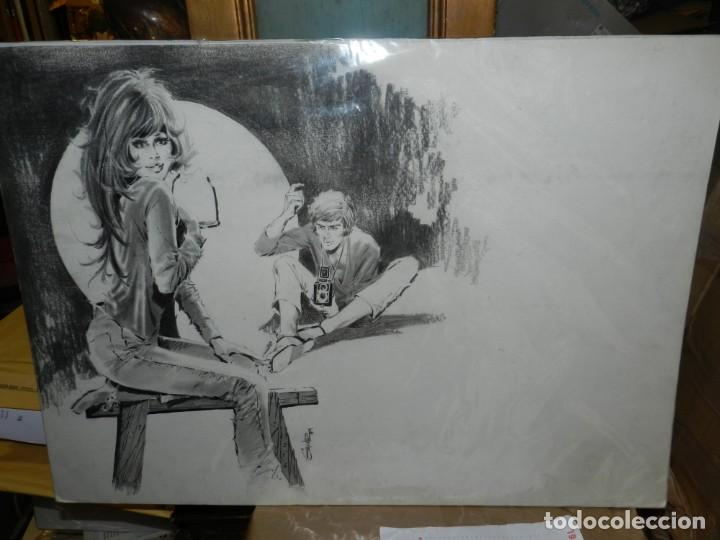 (D659) DIBUJO DE GALVEZ ( JORDI BADIA ROMERO ) , AÑOS 60 / 70 , 66 X 50 CM, SELECCIONES ILUSTRADAS (Tebeos y Comics - Art Comic)