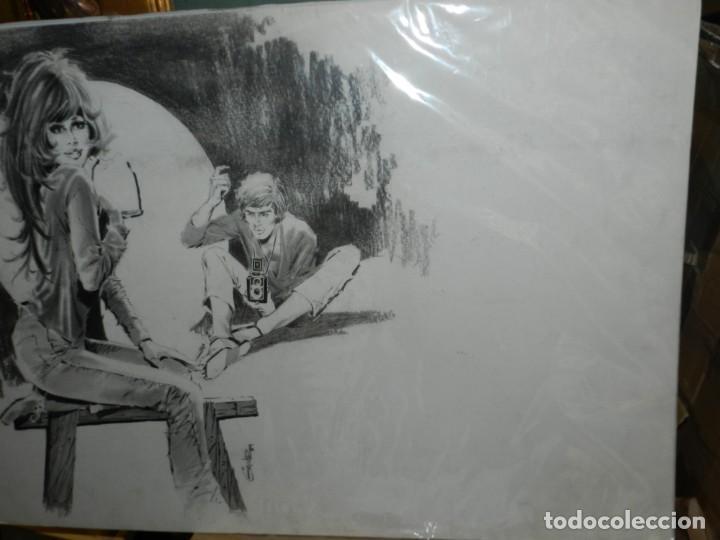 Cómics: (D659) DIBUJO DE GALVEZ ( JORDI BADIA ROMERO ) , AÑOS 60 / 70 , 66 X 50 CM, SELECCIONES ILUSTRADAS - Foto 6 - 130474122