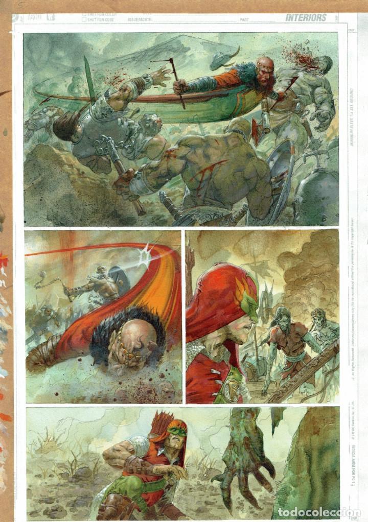 JLA RIDDLE OF THE BEAST PG.88 GREG STAPLES (Tebeos y Comics - Art Comic)
