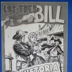 Cómics: LOS TRES BILL, PORTADA DEL Nº30. PLANCHAS ORIGINALES.. Lote 132911286
