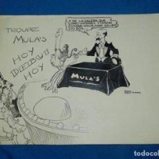 Cómics: (PA7) DIBUJO ORIGINAL POR PEDRO PREZ ALVAREZ 1931, DIBUJANTE ARGENTINO , 33 X 25 CM. Lote 133140774