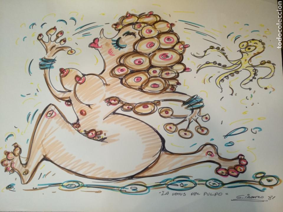 DIBUJO ORIGINAL GARCIA IRANZO, GRAN FORMATO 64,5CM X 52CM, LA VENUS DEL PULPO (Tebeos y Comics - Art Comic)