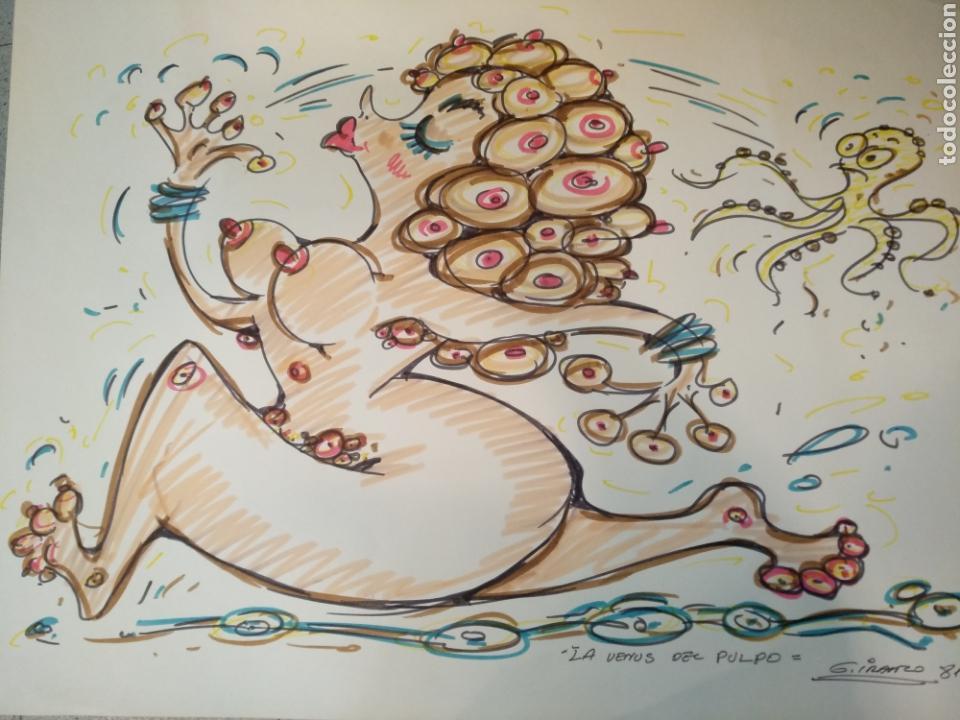 Cómics: Dibujo original Garcia Iranzo, gran formato 64,5cm x 52cm, La venus del pulpo - Foto 3 - 133615386