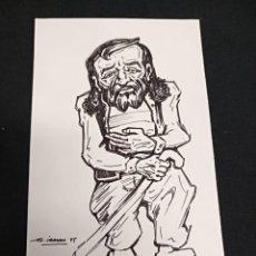 Cómics: JUAN GARCIA IRANZO - DIBUJO ORIGINAL FIRMADO FECHADO EN 1995 -. Lote 133632318