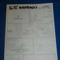 Cómics: (BD) DIBUJO ORIGINAL DE CARRILLO - EL NAUFRAGO Y OTRAS HISTORIAS , 41 X 28'5 CM, A LAPIZ. Lote 133716918