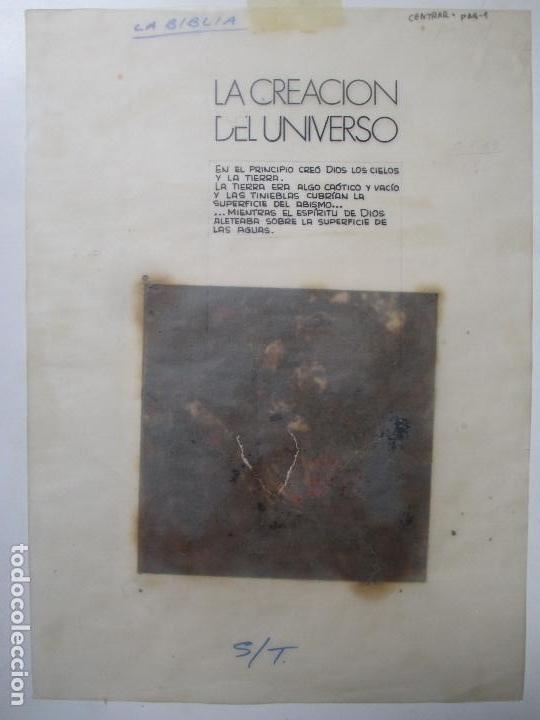 Dibujo Original La Biblia Pintado A Mano La Creacion Del Universo Religioso 8 Hojas B87