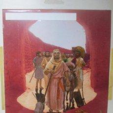 Cómics: DIBUJO ORIGINAL LA BIBLIA, PINTADO A MANO, LOS PATRIARCAS, ABRAHAM, RELIGIOSO, 2 HOJAS, B118. Lote 133863974