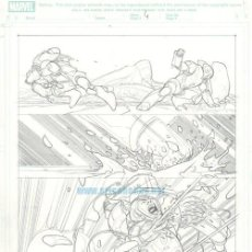 Cómics: PÁGINA ORIGINAL DE MARVEL COMICS: PASQUAL FERRY ULTIMATE IRON MAN 2 PG 4. Lote 134203914