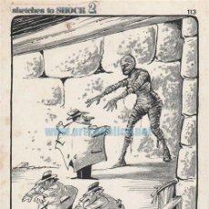 Cómics: PÁGINA ORIGINAL DE ALFONS FIGUERAS : SKETCHES TO SHOCK. Lote 134206222