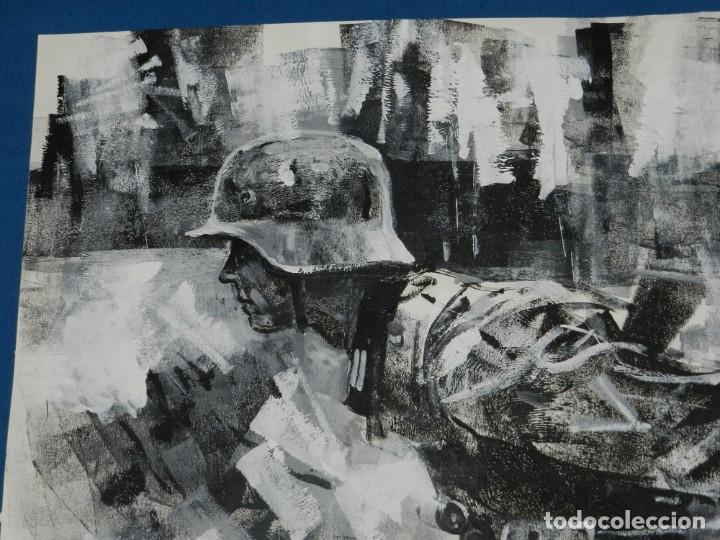 Cómics: (B/D) DIBUJO ORIGINAL DE GEORGE PRATT (TEXAS 1960) ESPECTACULAR DIBUJO ORIGINAL MILITAR 61 X 46 CM - Foto 2 - 134415774