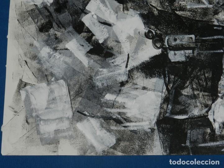 Cómics: (B/D) DIBUJO ORIGINAL DE GEORGE PRATT (TEXAS 1960) ESPECTACULAR DIBUJO ORIGINAL MILITAR 61 X 46 CM - Foto 3 - 134415774
