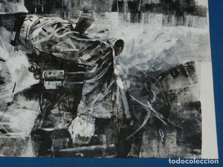 Cómics: (B/D) DIBUJO ORIGINAL DE GEORGE PRATT (TEXAS 1960) ESPECTACULAR DIBUJO ORIGINAL MILITAR 61 X 46 CM - Foto 5 - 134415774