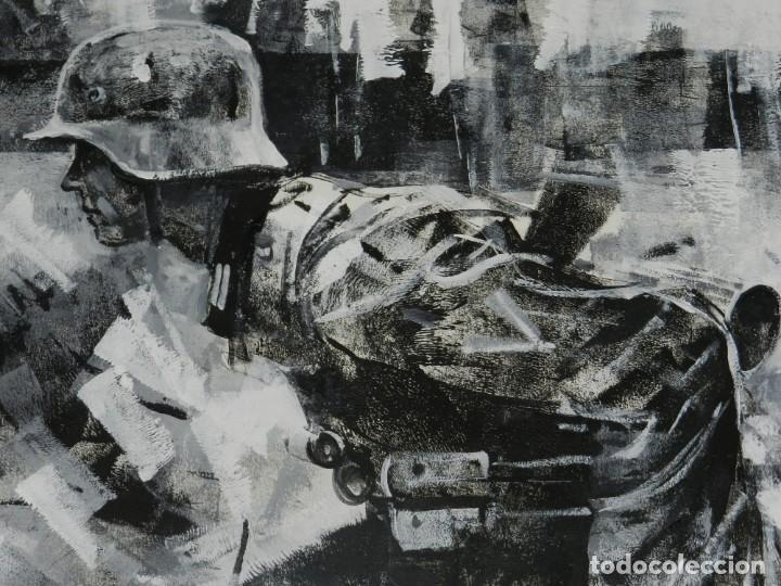 Cómics: (B/D) DIBUJO ORIGINAL DE GEORGE PRATT (TEXAS 1960) ESPECTACULAR DIBUJO ORIGINAL MILITAR 61 X 46 CM - Foto 7 - 134415774