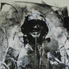 Cómics: (B/D) DIBUJO ORIGINAL DE GEORGE PRATT (TEXAS 1960) ESPECTACULAR DIBUJO ORIGINAL MILITAR 45'5X35'5 CM. Lote 134416178