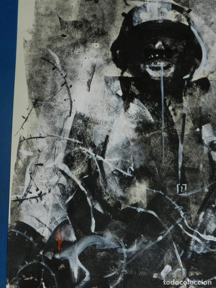 Cómics: (B/D) DIBUJO ORIGINAL DE GEORGE PRATT (TEXAS 1960) ESPECTACULAR DIBUJO ORIGINAL MILITAR 455X355 CM - Foto 2 - 134416178