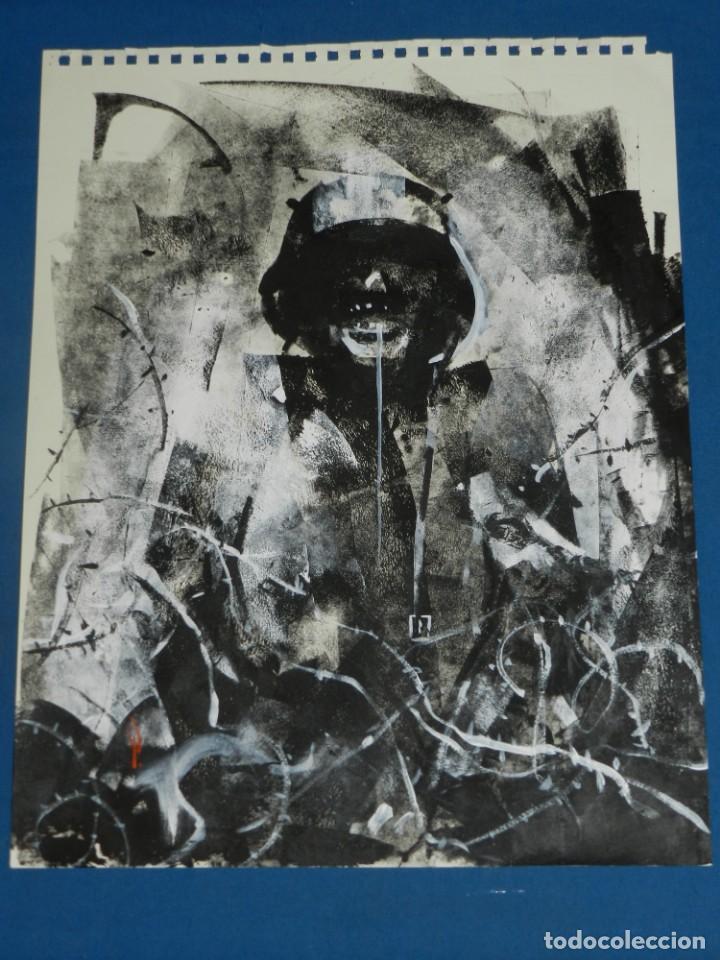 Cómics: (B/D) DIBUJO ORIGINAL DE GEORGE PRATT (TEXAS 1960) ESPECTACULAR DIBUJO ORIGINAL MILITAR 455X355 CM - Foto 6 - 134416178