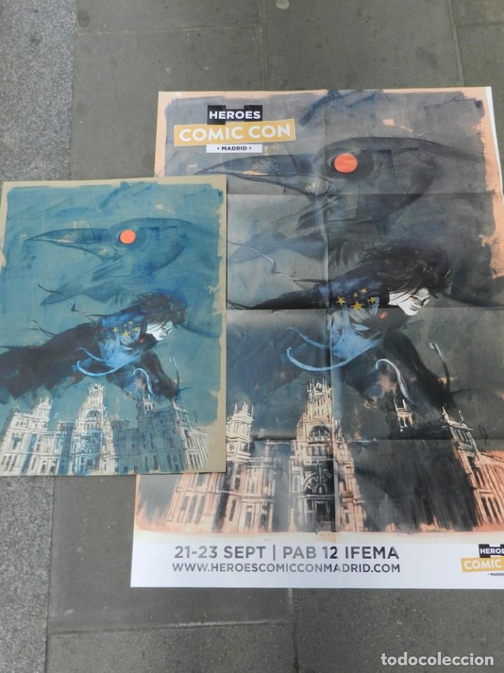 Cómics: (B/D) DIBUJO DE GEORGE PRATT - DIBUJO ORIGINAL CARTEL HEROES COMIC CON MADRID 2018, ESPECTACULAR - Foto 4 - 134421234
