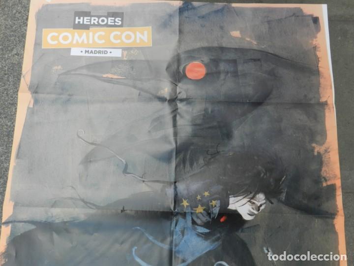 Cómics: (B/D) DIBUJO DE GEORGE PRATT - DIBUJO ORIGINAL CARTEL HEROES COMIC CON MADRID 2018, ESPECTACULAR - Foto 6 - 134421234