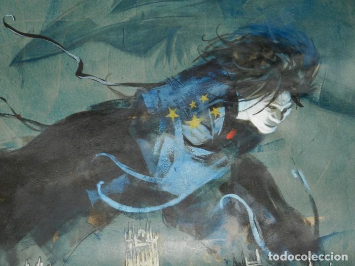Cómics: (B/D) DIBUJO DE GEORGE PRATT - DIBUJO ORIGINAL CARTEL HEROES COMIC CON MADRID 2018, ESPECTACULAR - Foto 9 - 134421234