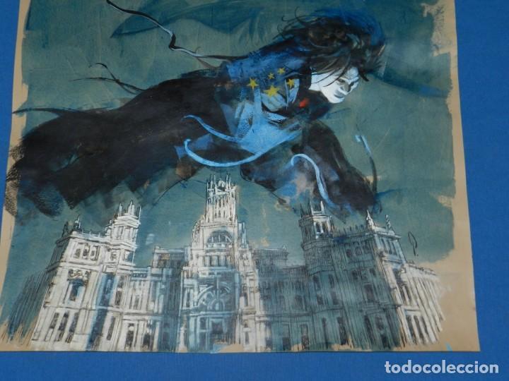 Cómics: (B/D) DIBUJO DE GEORGE PRATT - DIBUJO ORIGINAL CARTEL HEROES COMIC CON MADRID 2018, ESPECTACULAR - Foto 11 - 134421234