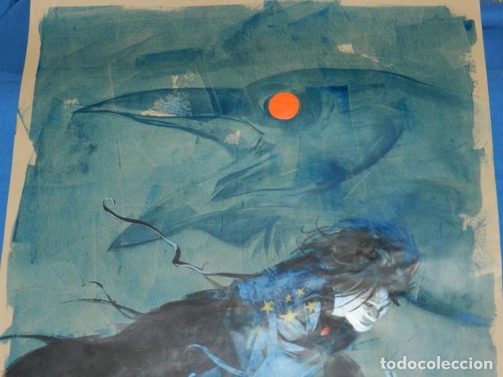 Cómics: (B/D) DIBUJO DE GEORGE PRATT - DIBUJO ORIGINAL CARTEL HEROES COMIC CON MADRID 2018, ESPECTACULAR - Foto 16 - 134421234