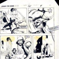 Cómics: ART COMIC JOHN BUSCEMA UNO DE LOSPOCOS ORIGINALES DE CONAN ENTINTADOS POR EL PROPIO AUTOR. Lote 134846442