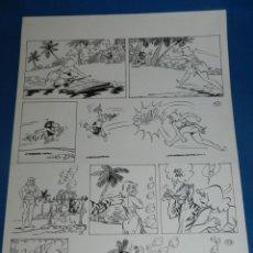 Cómics: (BD) DIBUJO ORIGINAL DE CARRILLO - EL NAUFRAGO Y OTRAS HISTORIAS , 41 X 28'5 CM, BUEN ESTADO. Lote 135204598