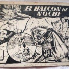 Cómics: ORIGINAL PORTADA 1942 EL HALCON DE LA NOCHE NUMERO 17 . Lote 135244222