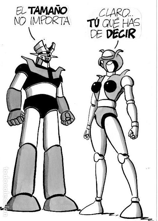 dibujo original mazinger z y baldomero de palla - Comprar ...