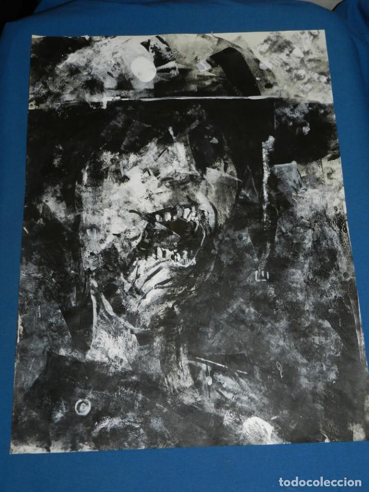 (B/D) DIBUJO ORIGINAL DE GEORGE PRATT (TEXAS 1960) TITULADO: SCREAM SOLDADO INGLES , 61 X 46 CM (Tebeos y Comics - Art Comic)