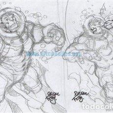 Cómics: BOCETO ORIGINAL DE PASQUAL FERRY: BOCETO DE PORTADA INDESTRUCTIBLE HULK 4. Lote 135703795