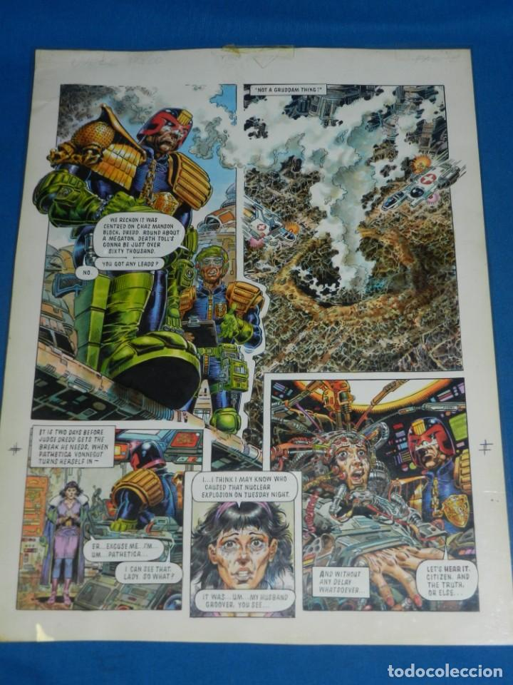 (JD) DIBUJO ORIGINAL JUDGE DREDD - THE BETTER ( JUEZ DREDO ) A COLOR , SIN FIRMAR (Tebeos y Comics - Art Comic)