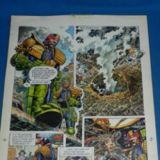 Cómics: (JD) DIBUJO ORIGINAL JUDGE DREDD - THE BETTER ( JUEZ DREDO ) A COLOR , SIN FIRMAR. Lote 135768198