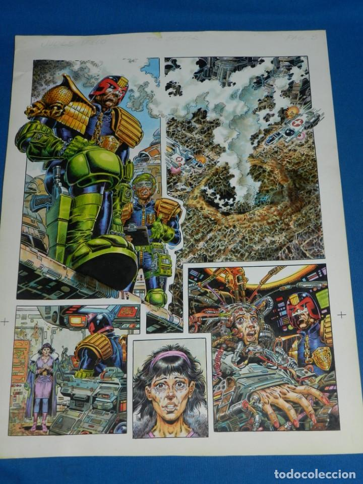 Cómics: (JD) DIBUJO ORIGINAL JUDGE DREDD - THE BETTER ( JUEZ DREDO ) A COLOR , SIN FIRMAR - Foto 2 - 135768198