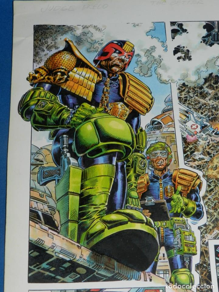 Cómics: (JD) DIBUJO ORIGINAL JUDGE DREDD - THE BETTER ( JUEZ DREDO ) A COLOR , SIN FIRMAR - Foto 3 - 135768198