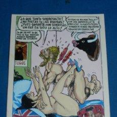 Cómics: (BD) DIBUJO ORIGINAL DE SERAFIN ROJO - DIBUJO PARA EL PAPUS , CHISTE EROTICO , 22 X 17 CM,. Lote 135768946