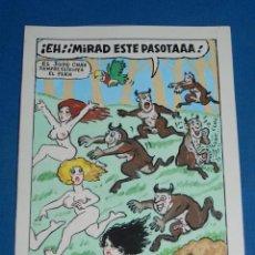 Cómics: (BD) DIBUJO ORIGINAL DE SERAFIN ROJO - DIBUJO PARA EL PAPUS , CHISTE EROTICO , 22 X 17 CM,. Lote 135769318