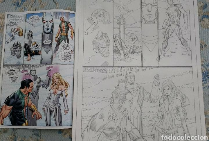 ARTE ORIGINAL/ORIGINAL ART COMIC CARLOS PACHECO,UNCANNY X-MEN VOL 2,10-PATRULLA X,VOL 1,4-EMMA FROST (Tebeos y Comics - Art Comic)