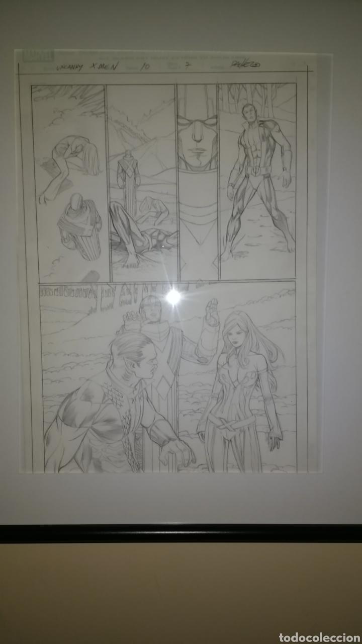 Cómics: Arte original/original art comic Carlos Pacheco,Uncanny X-Men Vol 2,10-Patrulla X,vol 1,4-Emma Frost - Foto 3 - 135925555